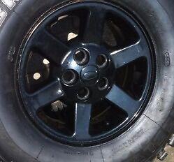 Land rover discovery x4 black allay wheels