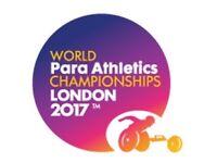 TWO World Para Athletics Championship Tickets!