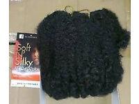 "Black Blonde Afro Kinky Bulk Hair Braiding Locs Twist Extentions Faux Bun 12"""