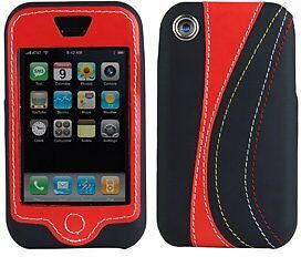 NEW SPECK RED BLACK RUNNER COVER CASE HARD/SOFT SLEEVE FOR APPLE iPHONE 2G EDGE