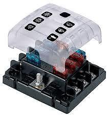 fuse block holder caravan marine dual battery 12 volt 6 way 30 amp new 6wqc ebay. Black Bedroom Furniture Sets. Home Design Ideas