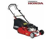 "Cobra 18"" Petrol Powered Rear Roller Lawnmower Honda Engine"