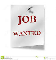 WILLING TO DO ANY JOB OR VOLUNTEER WORK!!