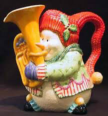 Fritz and Floyd snowman pitcher