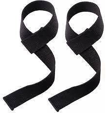 HEAVY DUTY THICK BLACK COTTON LIFTING STRAPS ONLY $9 PAIR Bayswater North Maroondah Area Preview