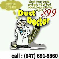 FRIDAY OFFER!DUCT CLEANING+VENTS+FURNACE+SANITIZATION INJUST$99
