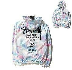 BRAND NEW STUSSY RAINBOW MULTICOLOURED WINDBREAKER
