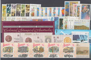 1990 year collection.50 stamps plus 2 miniature sheets.MNH & Cheap