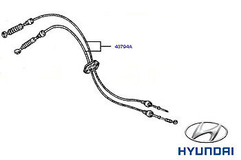 Genuine Hyundai Accent Gear Change Cables - 4379422010