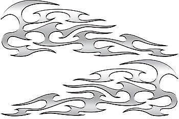 Motorcycle Tank Flame Decals Ebay