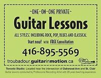 Guitar Lessons-- st.clair west and oakwood ave
