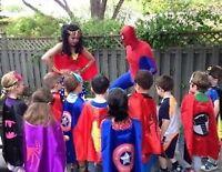 Superhero birthday party character Package