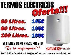 CALENTADORES DE AGUA Y TERMOS ELECTRICOS ECONOMICOS, EN SAN VICENTE DEL RASPEIG.   muebles / electrodomésticos - 1/4