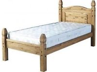 Solid Pine Single Bed Frame (no mattress)