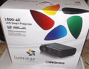 Luminar L800 4K Projector ♣Brand New in the Box  ♣