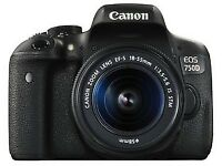 NEW, Canon EOS EOS 750D 24.2MP Digital SLR Camera - Black (Kit with 18-55mm Lens)