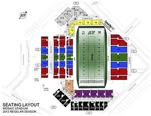 4 labour day tickets - Section 26 - approx 40 yard line