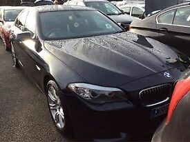 BMW 5 SERIES 2.0 520D M SPORT 4d AUTO 181 BHP + 2 PREV OWNERS + (black) 2010
