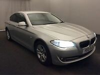 BMW 5 SERIES 2.0 520D EFFICIENTDYNAMICS 4d 181 BHP (silver) 2012