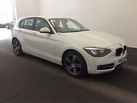 BMW 1 SERIES 2.0 120D SPORT 5d 181 BHP + TOP SPEC WITH ALL THE EXTRAS (white) 2015