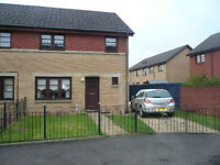 3 BEDROOM, SEMI DETACHED, FRONTand BACK GARDEN and DOUBLE DRIVE, Unfurnished in quiet cul-de-sac