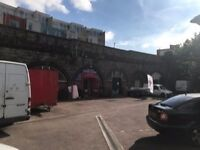 700 sq feet railway arch warehouse, small office inside, no motor trade..call to view 07525 460008