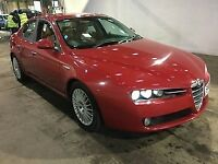 ALFA 159 STUNNING BEST COMBINATION IN RED WITH CREAM LEATHER!!