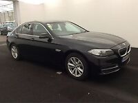 BMW 5 SERIES 2.0 520D SE 4d 188 BHP + 1 OWNER + SERVICE HISTORY (black) 2014