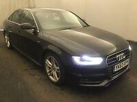 AUDI A4 2.0 TDI S LINE 4d 148 BHP (black) 2013