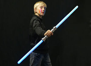 LED DOUBLE ENDED STAR WARS DARTH VADER MAUL LIGHT SABER WITH SOUND, 3 COLOURS