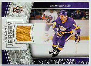 Marcel Dionne Game Used Jersey Swatch Hockey Card