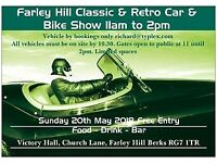 Farley Hill Retro & Classic Car & Bike Show Sunday 20th May 2018