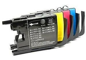 Brother LC75 Combo Pack (BK-C-M-Y) Compatible Ink Cartridges - High Yield - 4 Cartridges