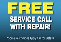 Free Service Call With Repair *