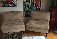 Chairs lock into couch - very versatile - $300 obo