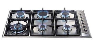 Six burner hob