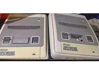 2 snes consoles