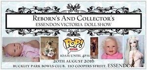 Doll Show Reborns, teddy bears, porcelain, art dolls Essendon Moonee Valley Preview