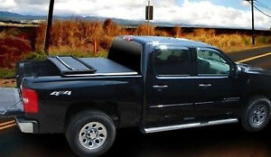 Soft Tri-Fold Tonneau Cover Nissan Frontier 2005-2015 London Ontario image 2