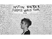 2 x Justin Bieber Tickets | Barclaycard Arena | 17th October