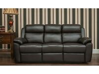mfs furniture rotherham - real leather - high backed recliner or fixed - brand new suites