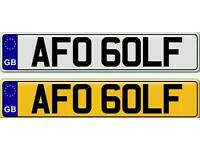 GOLF - TDI OR GTI A PRIVATE NUMBER PLATE FOR SALE
