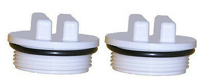 TWO Hayward Pentair Pool Spa Filter Threaded Drain Plug 1.5