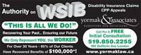 CUT OFF WSIB, DENIED CPP DISABILITY?