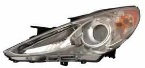 2011-2014 Hyundai Sonata Headlight Driver Side Chrome Bazel (Se/Ltd)