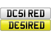 DESIRED private number plate cherished personalised car reg