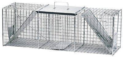 Havahart Live Animal Trap (Havahart1045 Live Animal Two-Door Raccoon, Stray Cat,Opossum&Groundhog Cage Trap)