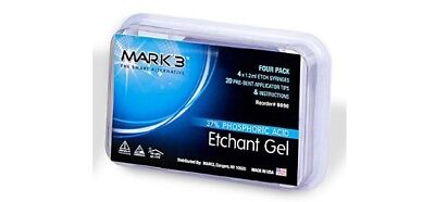 Etchant Gel 37 Phosphoric Acid 4 X 1.2 Ml Etch Syringes 20 Tips