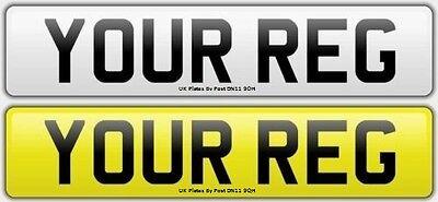 Pair Standard Number Plates 100% MOT Compliant - FREE POST Car / Van