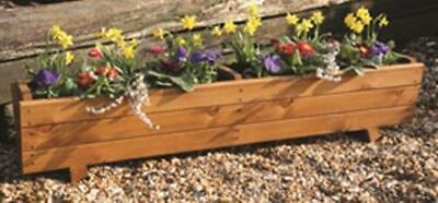 Tom Chambers Hand Made 118cm Traditional Wooden Garden Trough Flower Planter